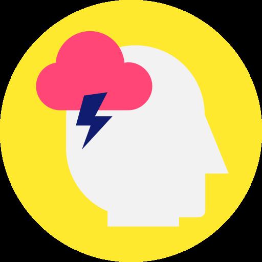 brain, brainstorming, cloud, cloud computing, thunder icon icon
