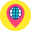 direction, globe, location, map, marker, navigation, pin, pointer icon icon