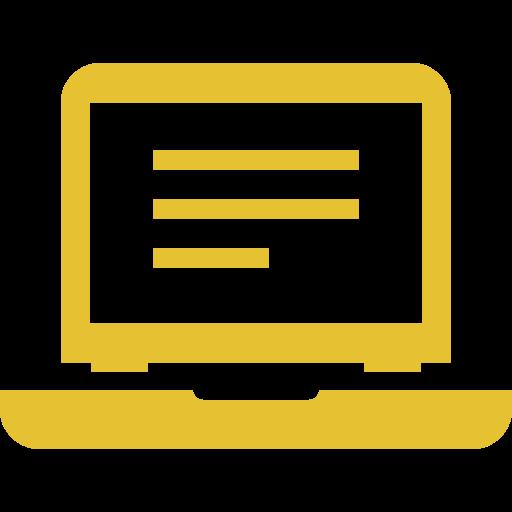 computer, laptop, online, work icon