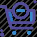 carrito, cart, delete, less, menos, remove icon