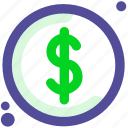 cash, currency, dollar, usd icon