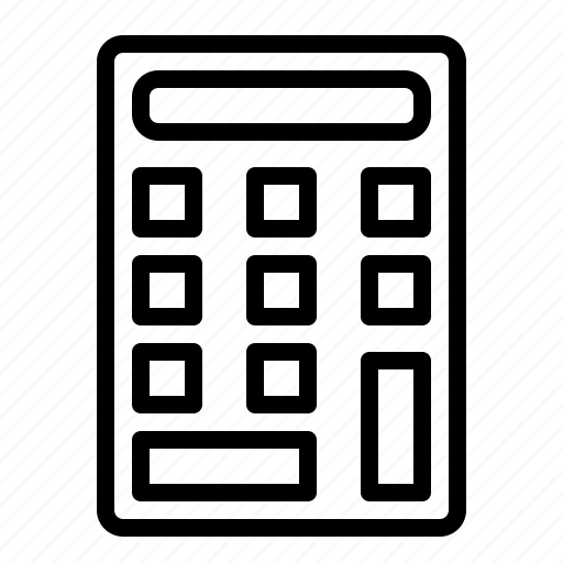 business, calculator, design, finance, web icon