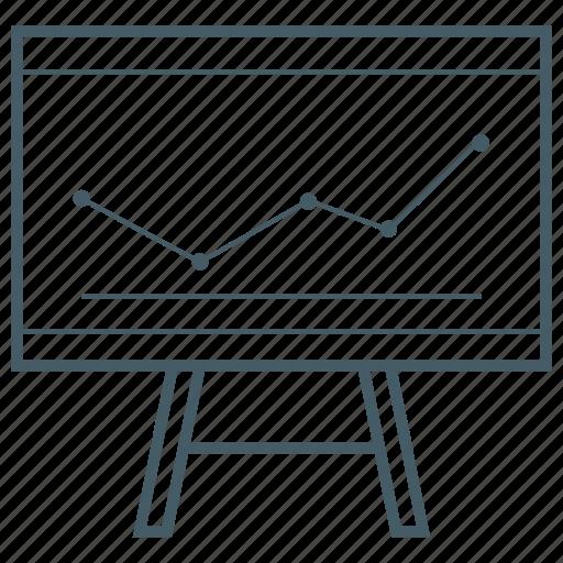 board, chart, office, presentation icon