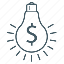 bulb, dollar, energy, generate, money icon