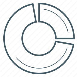 chart, dounut, statistic icon