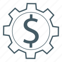 dollar, gear, generate, money icon
