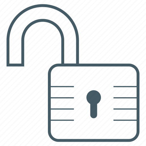open, padlock, protect, secure, security, unlock icon