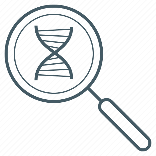 dna, enlarge, lab, magnifying glass, science icon