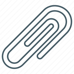 attachment, clip, office, paper, paperclip icon