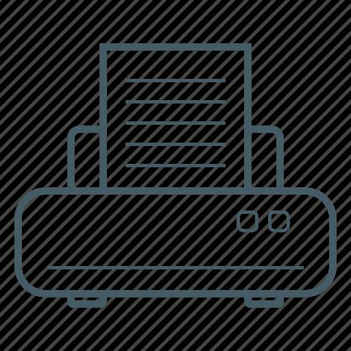 equipment, office, paper, print, printer icon