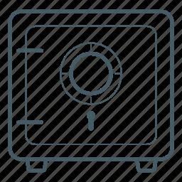 deposit, locked, money, safe, safety, vaulted door icon