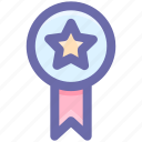 award, bravery, medal, premium, rank, star icon