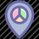 gps, location, navigation, navigation pie, pie, place icon