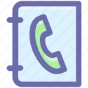 card, contact, phone, telephone card icon