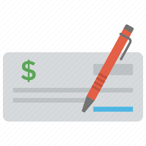 cheque signing, chequebook, paycheck, petition, signing icon