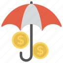 financial insurance, financial protection, financial services, personal insurance, professional indemnity icon