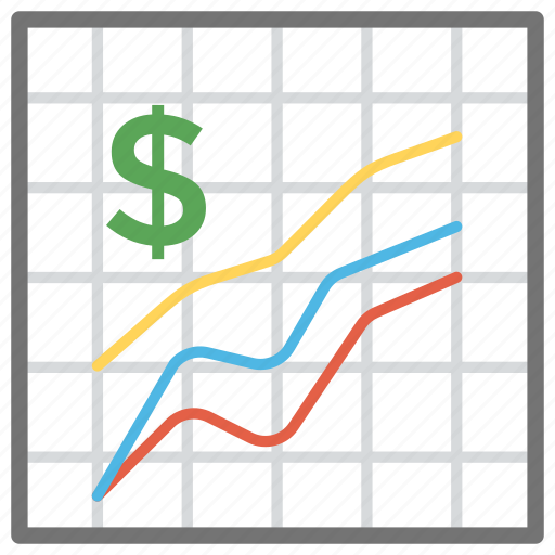 data visualization, financial analysis, financial graph, infographic, line chart icon