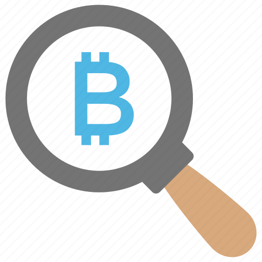 investment, looking for money, make money, market research, search bitcoin icon