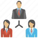 business community network, business networking group, distant work, network collaboration, team network icon