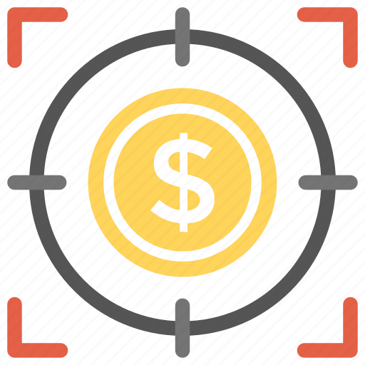 business targets, financial goal, financial planning, marketing strategy, sales target icon
