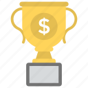 business award, business excellence, financial achievement, financial success, trophy cup icon