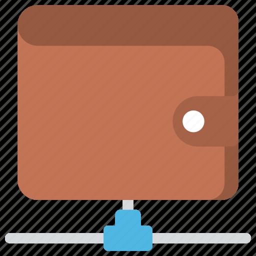 digital wallet, pocketbook, purse, wallet, wallet money icon