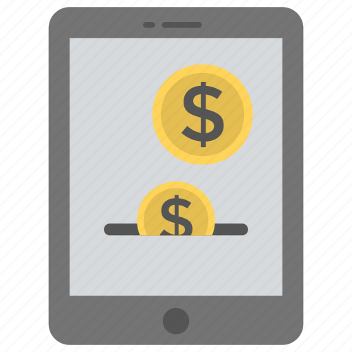 digital wallet, internet banking, mobile banking, pay by mobile, pay online icon