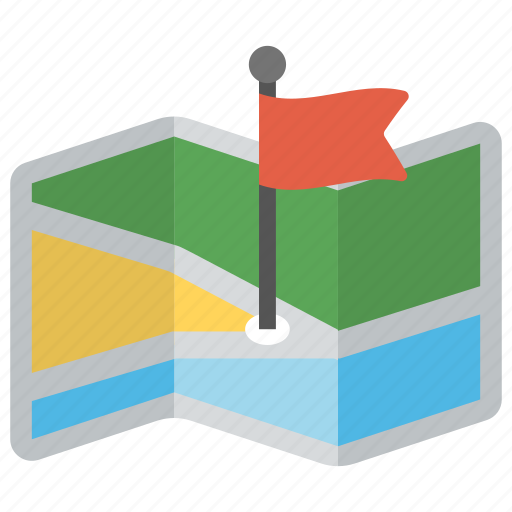 gps, location flag, map locator, map navigation, map pin icon