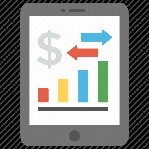 app design, mobile chart, mobile dashboard, mobile graph, mobile ui design icon