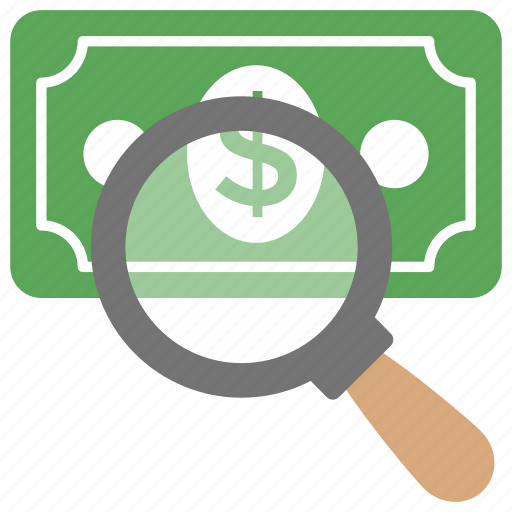 investment, looking for money, make money, market research, search money icon