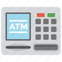 atm, atm machine, banking, cash line, cash machine icon