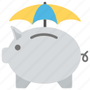 emergency funds, penny bank, piggy bank, retirement, savings icon
