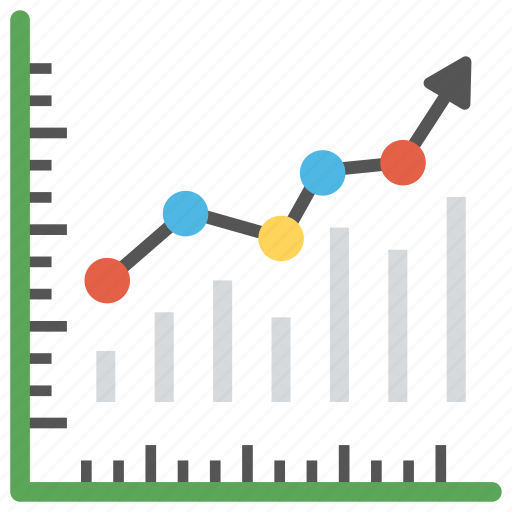 analytics, infographics, line chart, trending chart, trending up icon