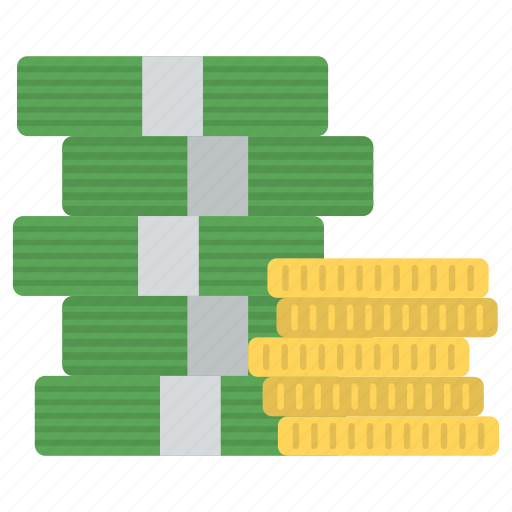 coins stack, finance, money, money pile, money stack icon