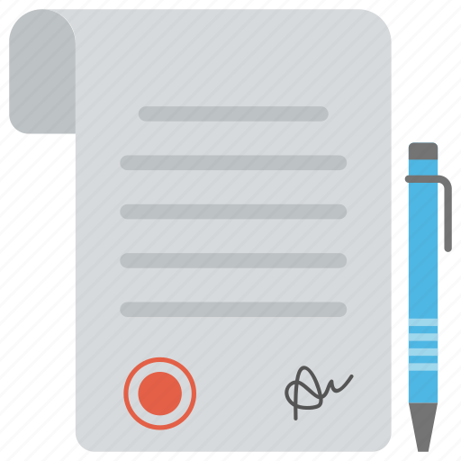 business agreement, business contract, business papers, business proposal, sales contract icon
