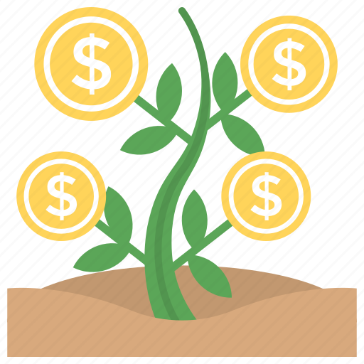 business growth, dollar plant, financial growth, financial investment, money growth icon
