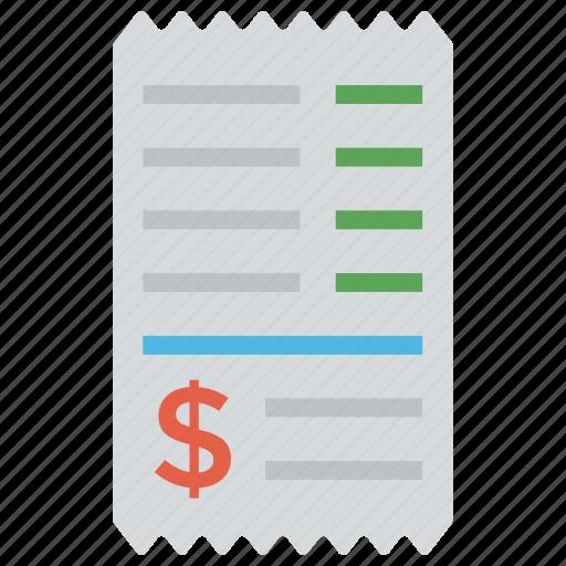 bank statement, bill, invoice, receipt, voucher icon