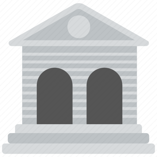architecture, bank, building, building exterior, columns building icon