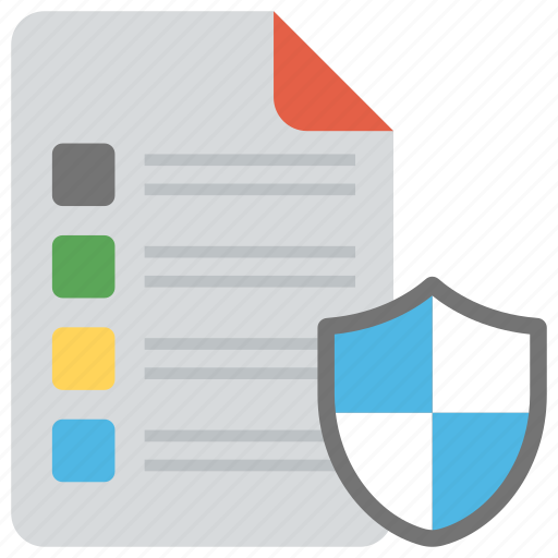 confidential information, document protection, encryption, file security, private data icon