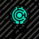 arrow, labyrinth, lightbulb, maze, solution