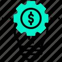 creative, dollar, idea, lightbulb, money, solution