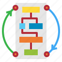 business, plan, tactics, workflow icon