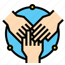 business, collaboration, companionship, hands icon