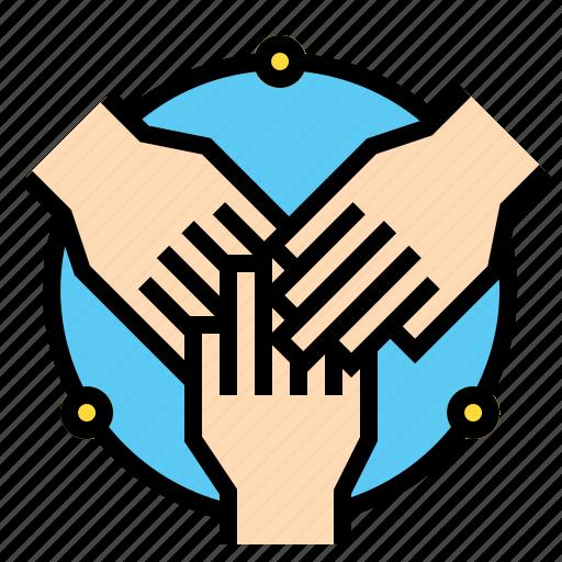 business, collaboration, companionship, hands icon