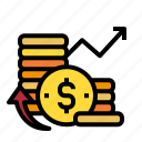 coin, finance, money, pay icon