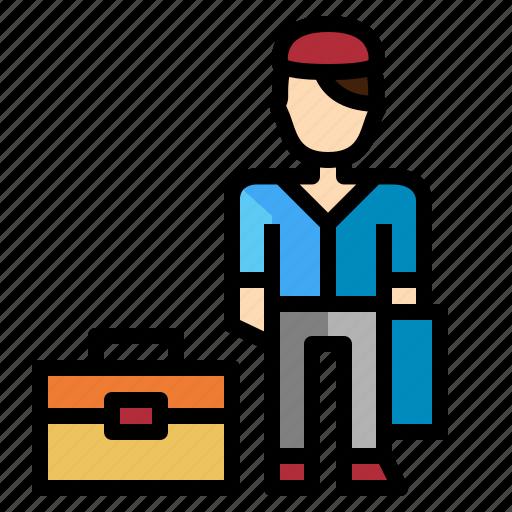 business, man, team, work icon