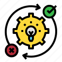 concept, gear, idea, subject icon
