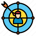 goal, mark, objective, target icon