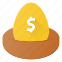 investment, money, nest, plan, savings, wealth icon