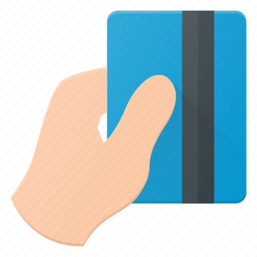 Bank, card, finance, hand, pay, payment, pos icon - Download on Iconfinder